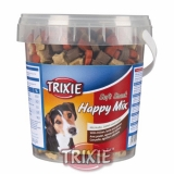 Trixie Soft Snack Happy MIX - kuře, jehněčí, losos, kyblík 500 g