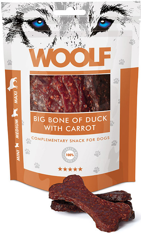 WOOLF pochoutka big bone of duck with carrot 100g