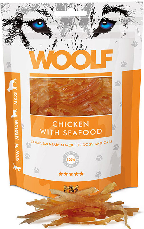 WOOLF pochoutka chicken with seafood 100g