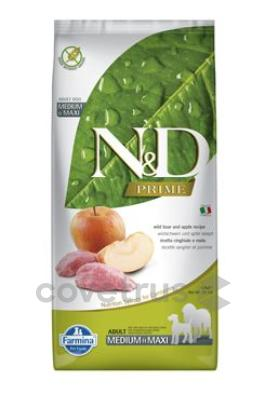 N&D PRIME DOG Adult M/L Boar & Apple 12kg