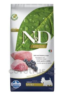 N&D PRIME DOG Adult Mini Lamb & Blueberry 7kg