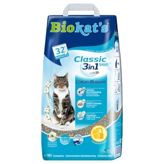 Biokat's Classic 3in1 Cotton Blossom 10kg