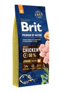 Brit Premium Dog by Nature Junior M 15kg