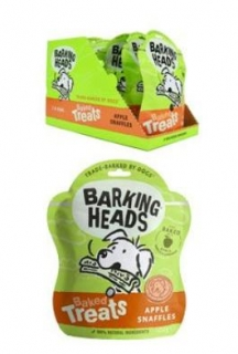 BARKING HEADS Baked Treats Apple Snaffles 100g