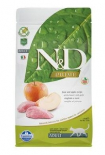 N&D PRIME CAT Adult Boar & Apple 1,5kg