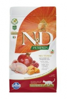 N&D GF Pumpkin CAT NEUTERED Quail & Pomegranate 5kg